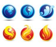 Conjunto de iconos naturales calientes del Web Foto de archivo