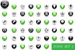 Conjunto de iconos o de botones Foto de archivo