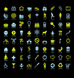 Conjunto de iconos o de símbolos Imagen de archivo libre de regalías