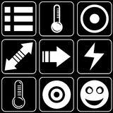 Conjunto de iconos (otros) Foto de archivo