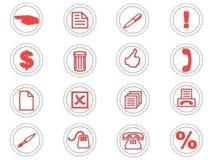 Conjunto de iconos redondos
