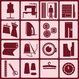 Conjunto de iconos taller stock de ilustración