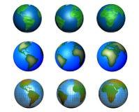 Conjunto de ilustraciones del globo ilustración del vector