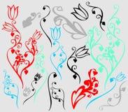 Conjunto de imágenes de la flor Fotografía de archivo