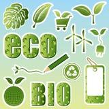 Conjunto de imagen de Eco Fotos de archivo