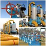 Conjunto de imagen: equipo de la gasolinera foto de archivo