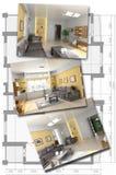 Conjunto de imagen interior moderno Fotografía de archivo