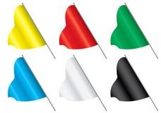 Conjunto de indicadores multicolores. Imágenes de archivo libres de regalías