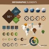 Conjunto de Infographic Fotografía de archivo