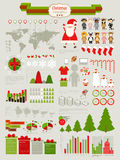 Conjunto de Infographic de la Navidad Fotos de archivo libres de regalías
