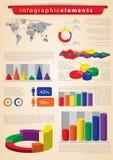 Conjunto de Infographics Fotos de archivo