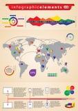 Conjunto de Infographics Fotografía de archivo libre de regalías