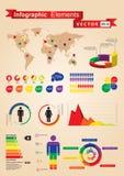 Conjunto de Infographics Fotografía de archivo