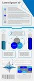 Conjunto de infographics de los elementos del vector Foto de archivo libre de regalías