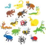 Conjunto de insectos libre illustration