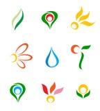 Conjunto de insignias. Imagenes de archivo