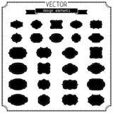 Conjunto de insignias y de escrituras de la etiqueta retras del vintage ilustración del vector