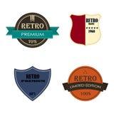 Conjunto de insignias y de escrituras de la etiqueta retras del vintage foto de archivo