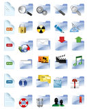 Conjunto de Internet y de iconos de los multimedia. Foto de archivo