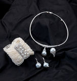Conjunto de joyería de la perla Imagen de archivo