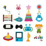 Conjunto de juguetes Fotografía de archivo libre de regalías