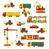 Conjunto de juguetes de la historieta Imagen de archivo libre de regalías