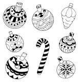 Conjunto de juguetes de la Navidad Fotos de archivo libres de regalías