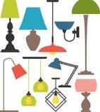 Conjunto de lámparas stock de ilustración