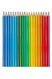 Conjunto de lápices coloreados aislados Imágenes de archivo libres de regalías