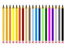 Conjunto de lápices coloreados multi Imagen de archivo libre de regalías