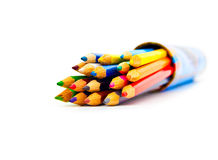 Conjunto de lápices del color en un rectángulo Imagenes de archivo