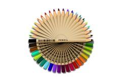 Conjunto de lápices en el fondo blanco Ejemplo del vector, EPS 10 stock de ilustración