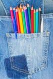 Conjunto de lápices multicolores foto de archivo libre de regalías