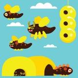 Conjunto de la abeja stock de ilustración