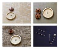 Conjunto de la aguja de costura Fotos de archivo