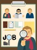 Conjunto de la búsqueda de Characters.job Fotografía de archivo libre de regalías