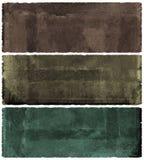 Conjunto de la bandera de Grunge Fotografía de archivo libre de regalías