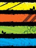 Conjunto de la bandera de Grunge Imagen de archivo libre de regalías