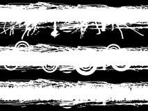 Conjunto de la bandera de Grunge Foto de archivo libre de regalías