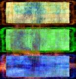 Conjunto de la bandera de Grunge stock de ilustración