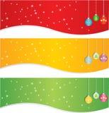 Conjunto de la bandera de la Navidad Imagen de archivo