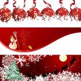 Conjunto de la bandera de la Navidad Fotografía de archivo libre de regalías