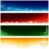 Conjunto de la bandera de la Navidad Imagen de archivo libre de regalías