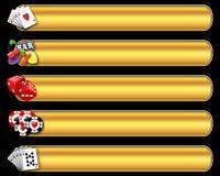 Conjunto de la bandera del casino Foto de archivo libre de regalías