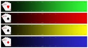 Conjunto de la bandera del póker Fotografía de archivo