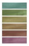 Conjunto de la bandera del papel del coco de los tonos del neutral imágenes de archivo libres de regalías