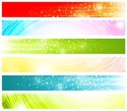 Conjunto de la bandera del Web ilustración del vector