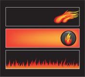 Conjunto de la bandera del Web site ilustración del vector