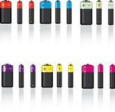 Conjunto de la batería Stock de ilustración
