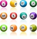 Conjunto de la bola del bingo imágenes de archivo libres de regalías